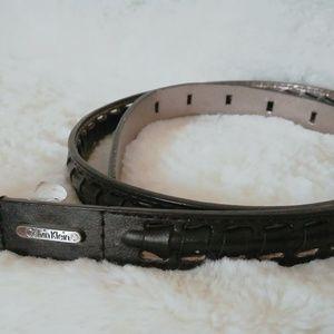 Calvin Klein Braided Belt Black Size Small